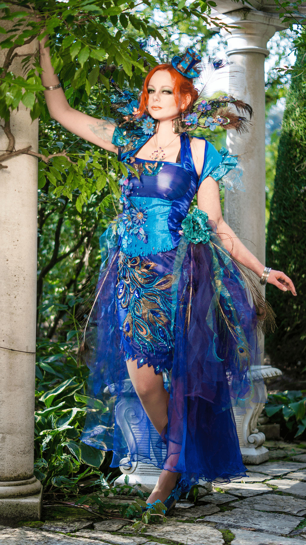 lady peacock cosplay costume