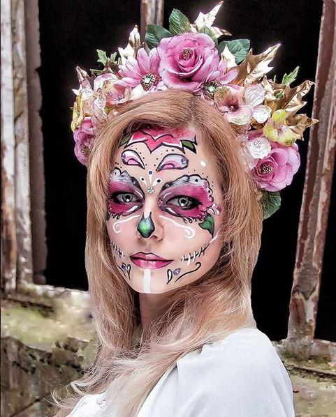dia de muertos facepainting
