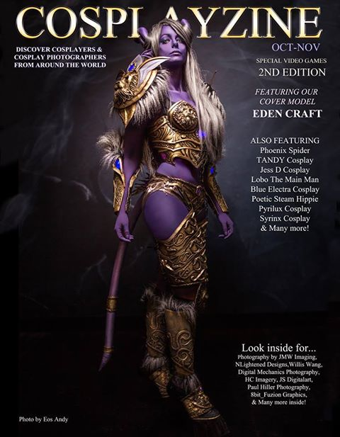 Cosplayzine Cover Cosplay Eden Craft
