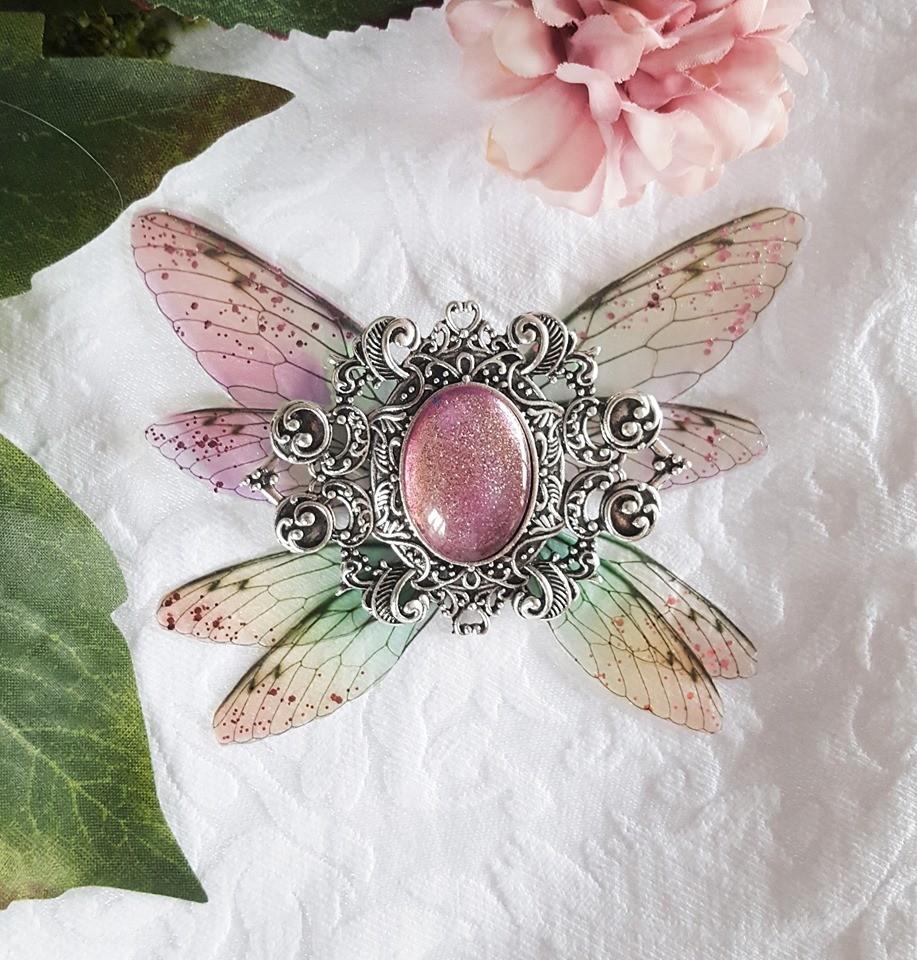 broiche fairy accessoire pink silver