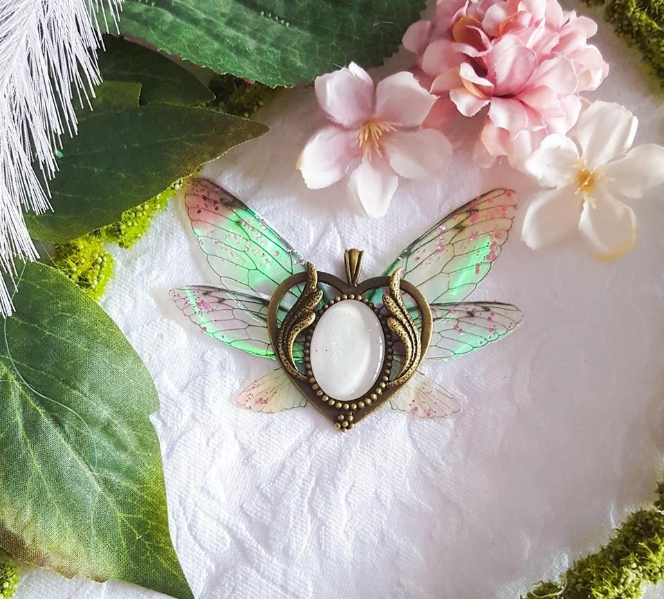 fairy heart chain white