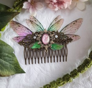 hair comb fairy pink