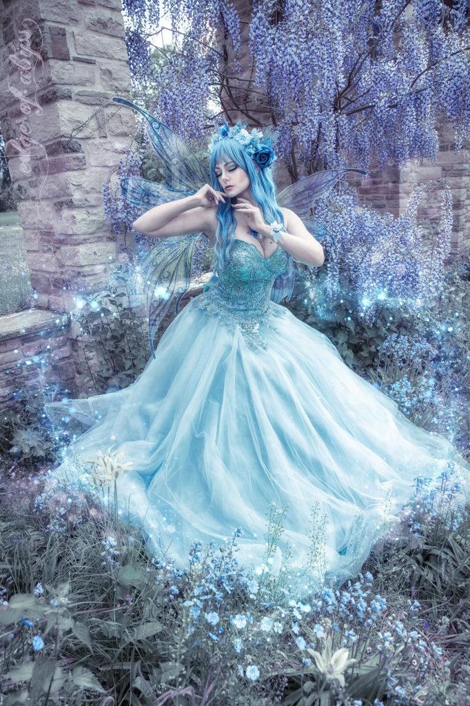 blaue fee cosplay